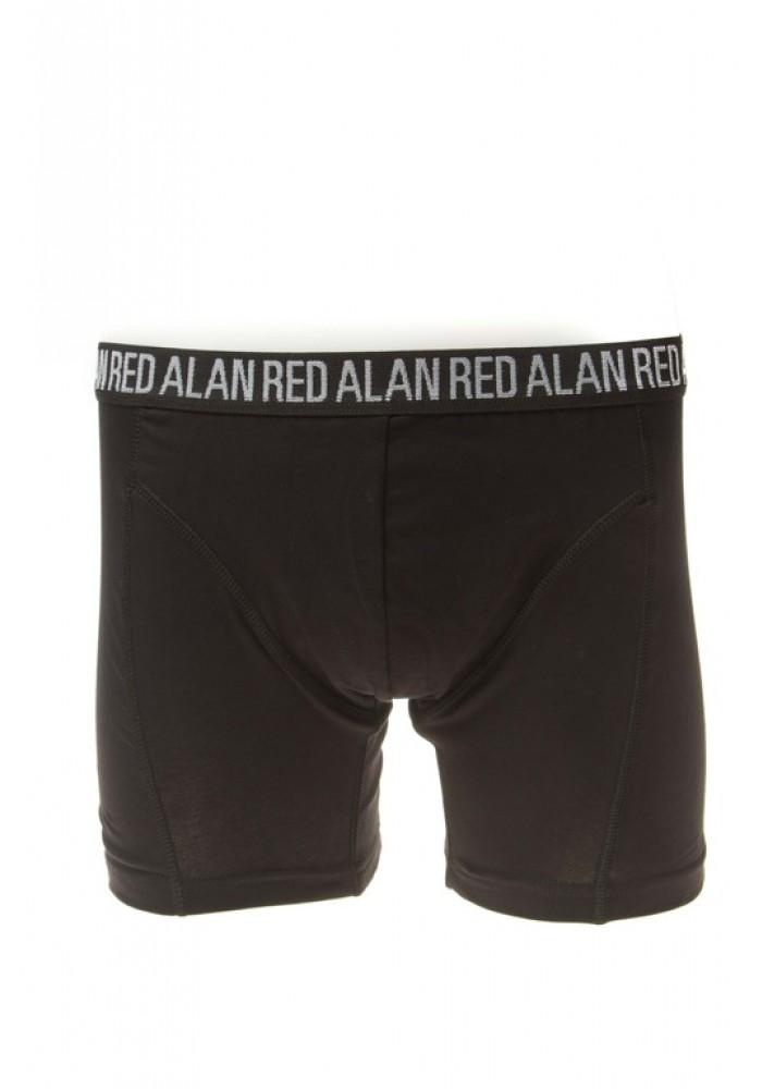 Alan Red Boxer Long Leg Black ( 3 pack )