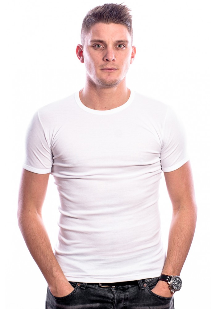 Beeren Men T-Shirt Ronde Hals Wit ( 3 Pack)