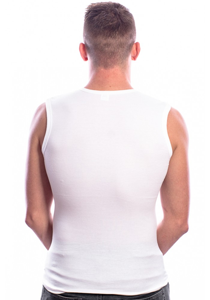 Beeren Bodywear Mouwloos Shirt V-Hals Wit ( 3 pack)