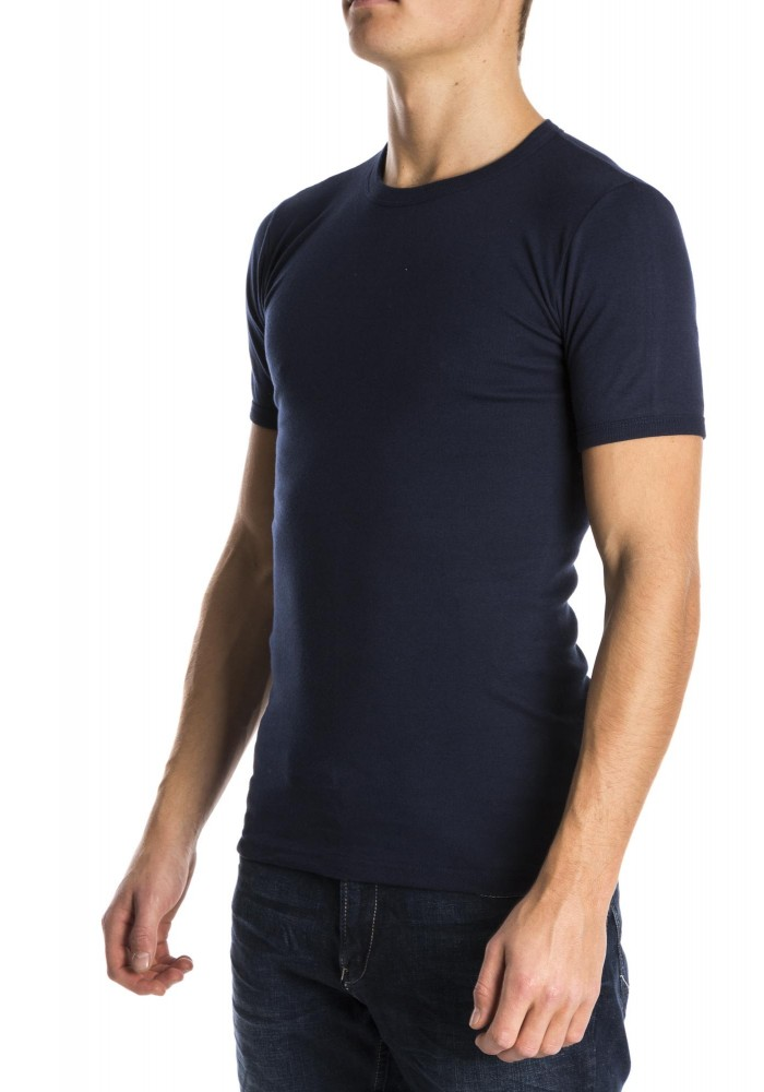 Beeren Men T-Shirt Ronde Hals blauw ( 3 Pack)
