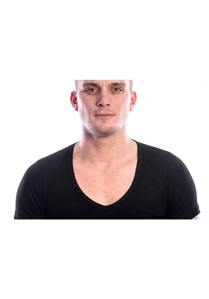 Beeren Men T-Shirt V-Hals Diep Zwart