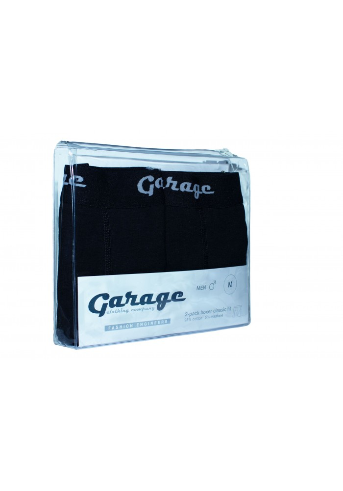 Garage Boxer Classic fit ( two pack ) Black