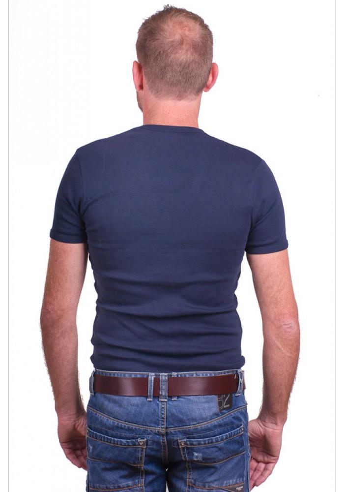 Garage T-Shirt Deep V-Neck Semi bodyfit Blauw