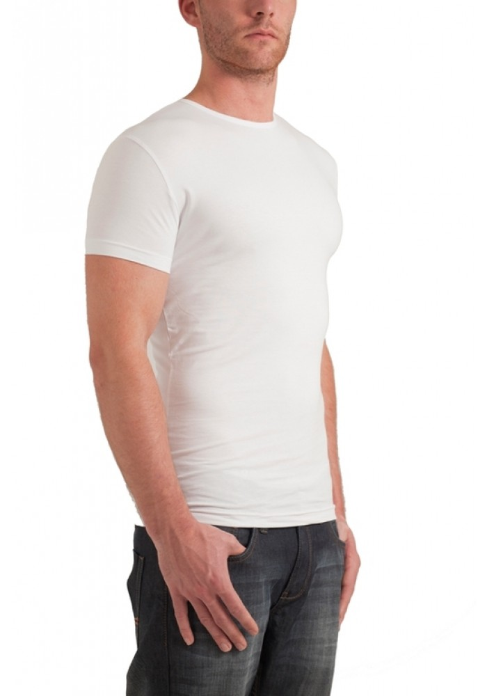 Garage T-shirt round neck bodyfit White ( stretch )