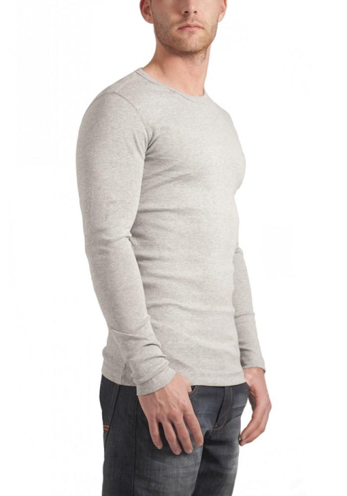 Garage T-shirt round neck long sleeve semi bodyfit  grey