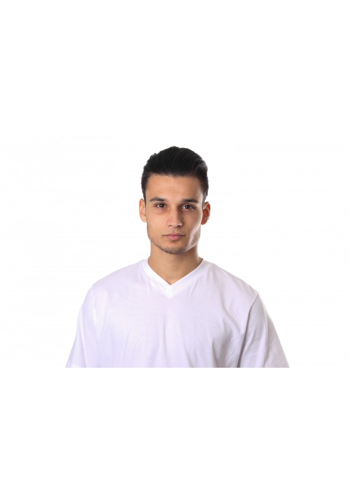 Schiesser American T-Shirt V - Neck White