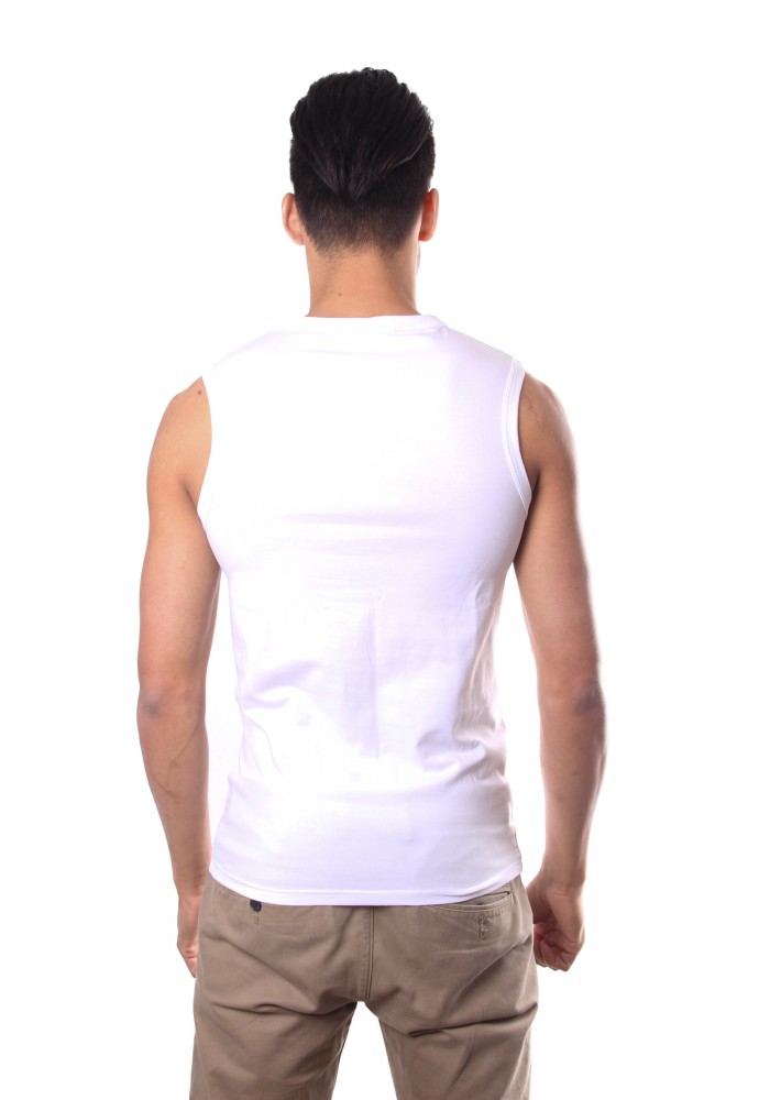 Hom Smart Cotton Sleeveless White