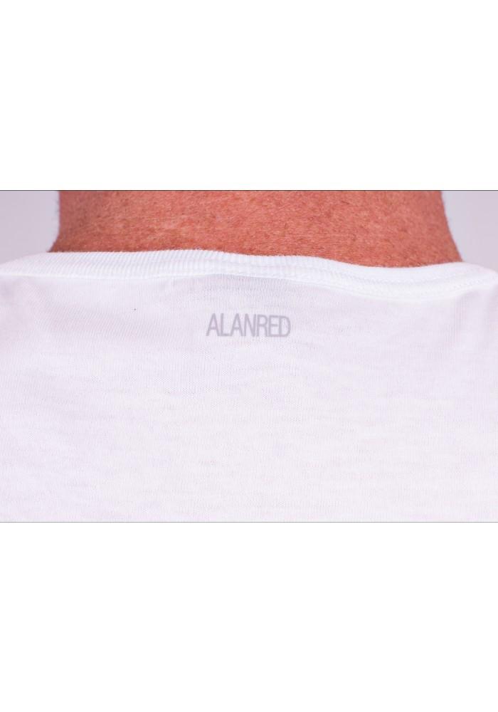 Alan Red T-Shirt V-Hals Oklahoma White