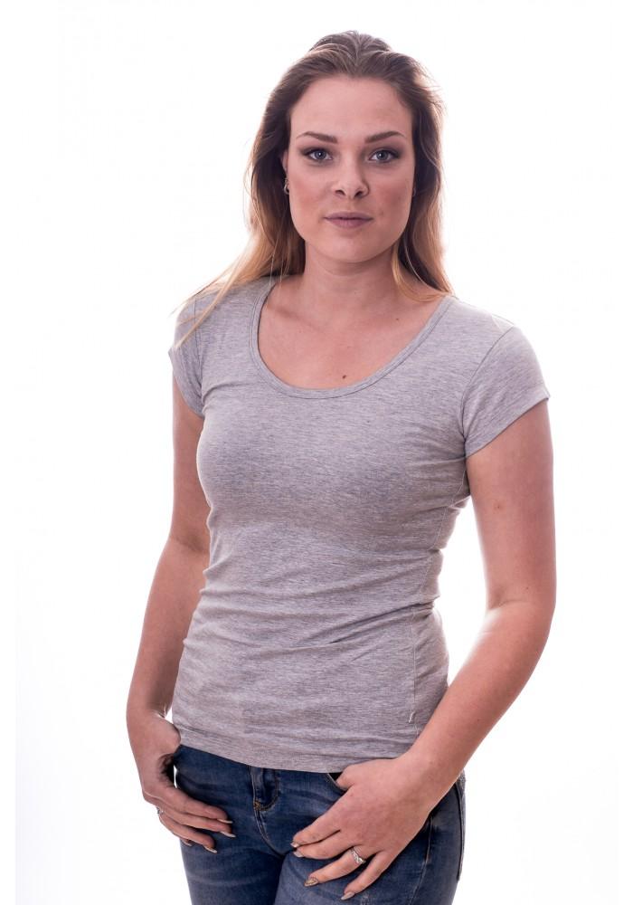 Claesen's Women T-Shirt Round neck s/s Grey