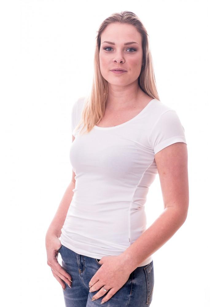 Claesen's Women T-Shirt Round neck s/s White