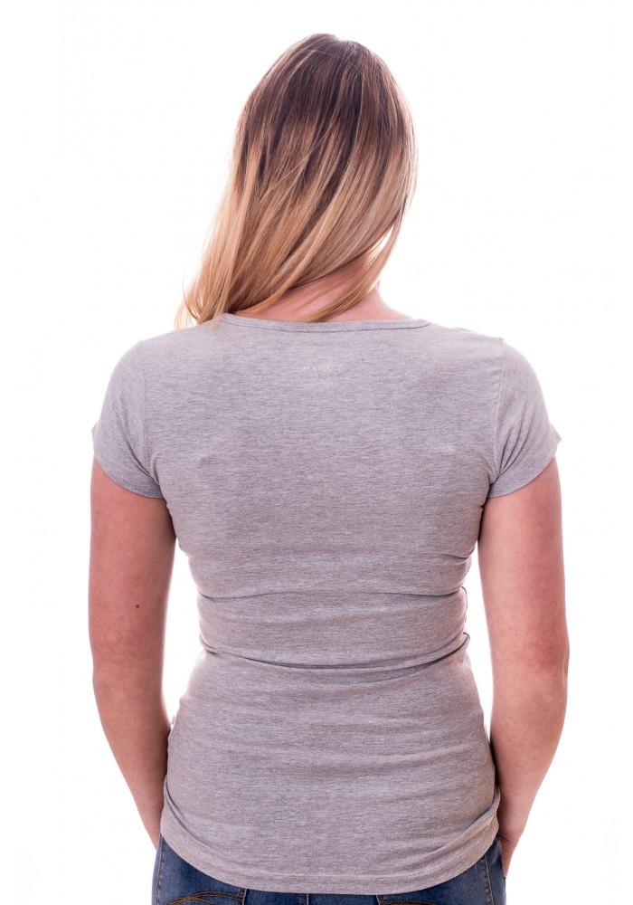 Claesens Women T-Shirt V-hals s/s Grey ( cl 8010 )