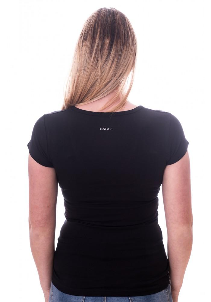Claesens Women T-Shirt V-hals s/s Black( cl 8010 )
