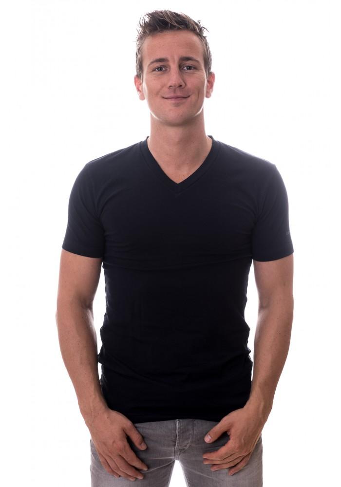 Claesens Stretch T-Shirt  V-hals