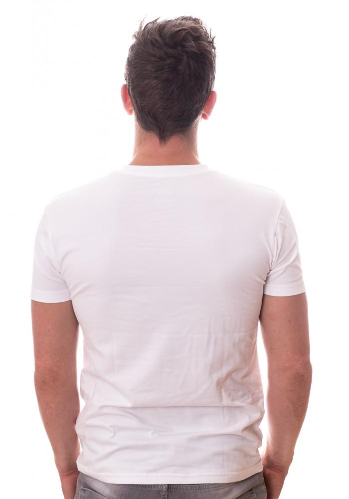 Claesens Stretch T-Shirt Wit V-hals