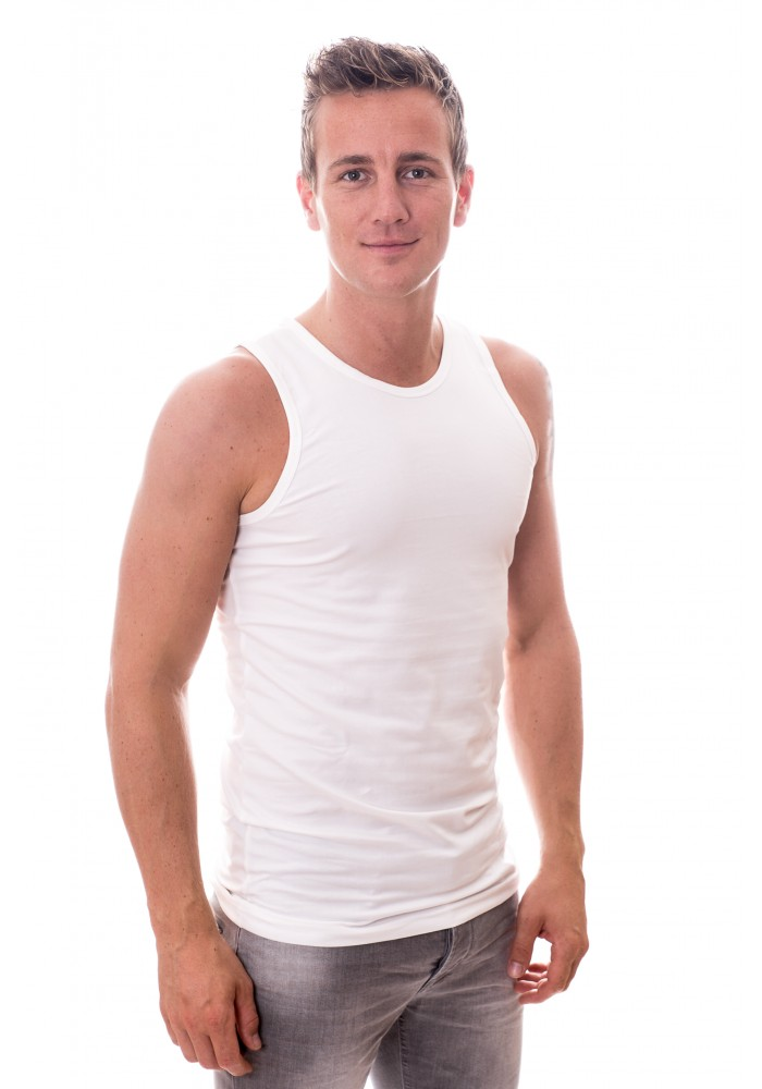 Claesens Singlet stretch white