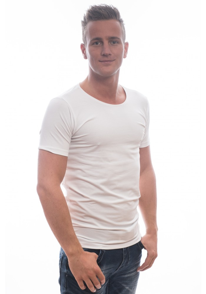 Basic Petrol White Tee