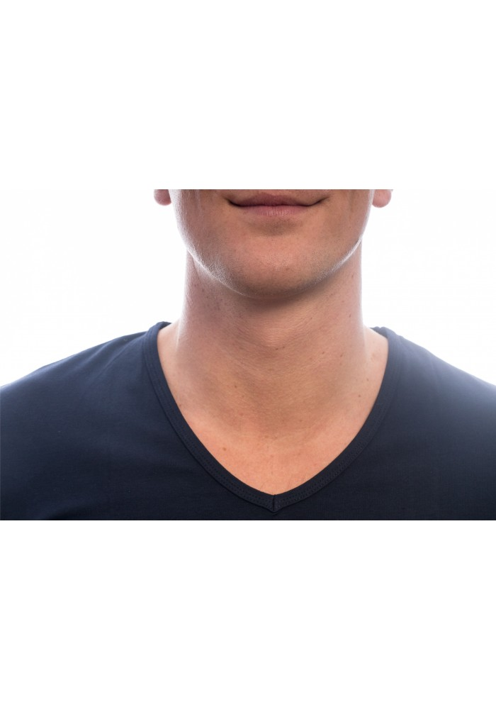 Slater V-neck blue navy