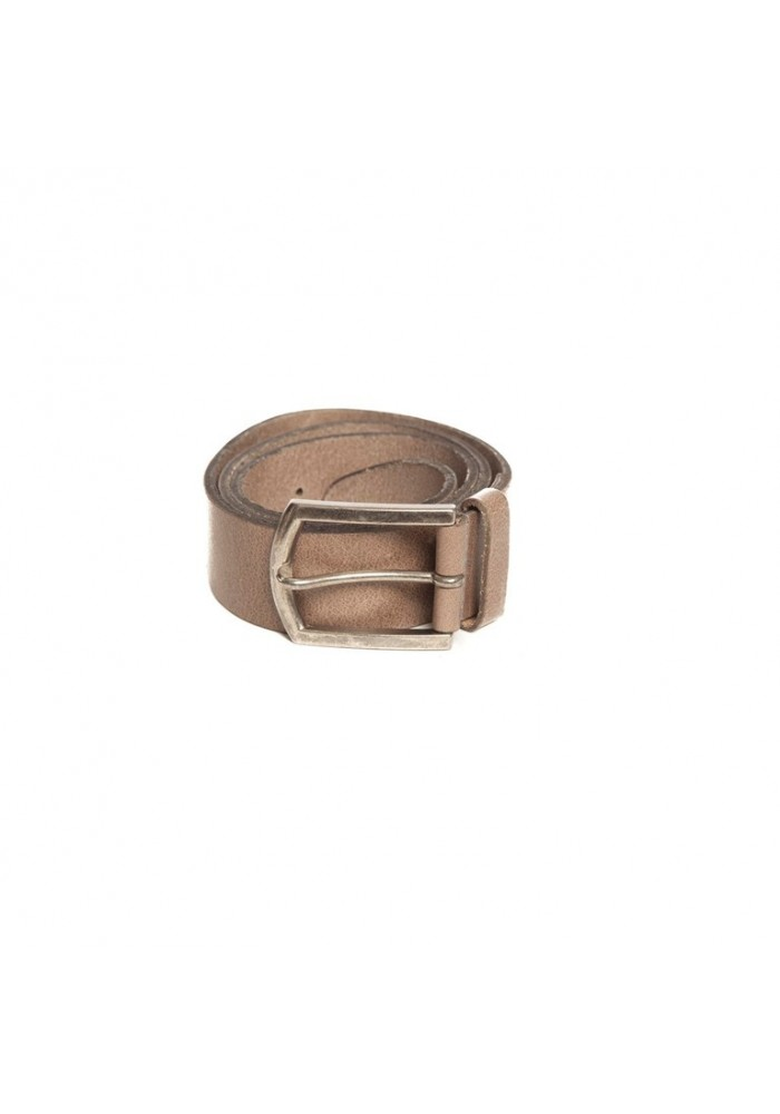 Petrol Leather Jeans Belt Grey