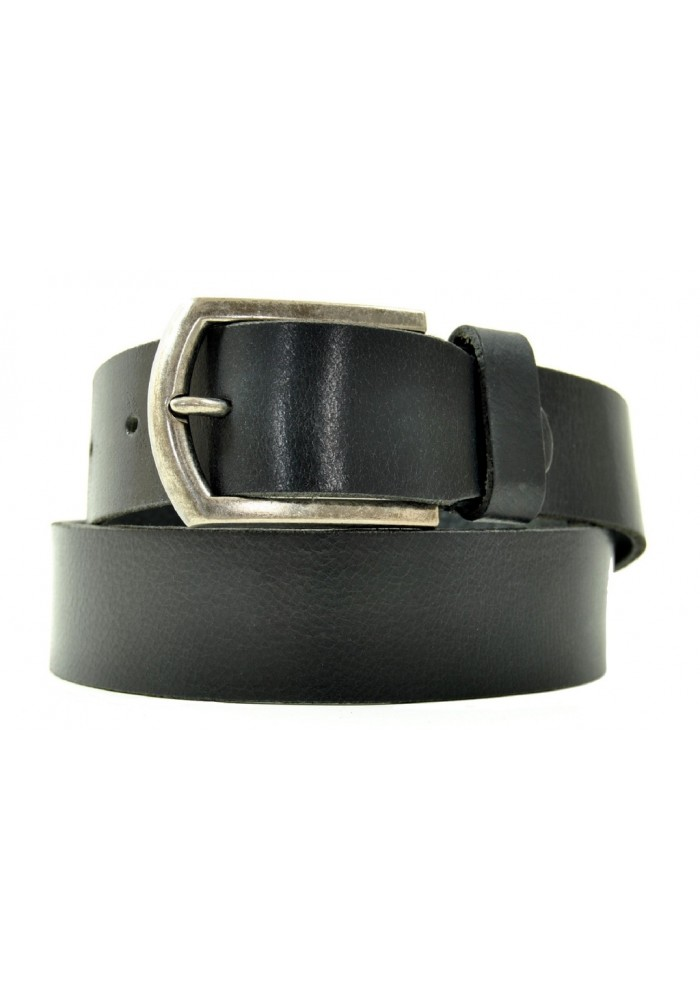 Petrol Leather Jeans Belt Black