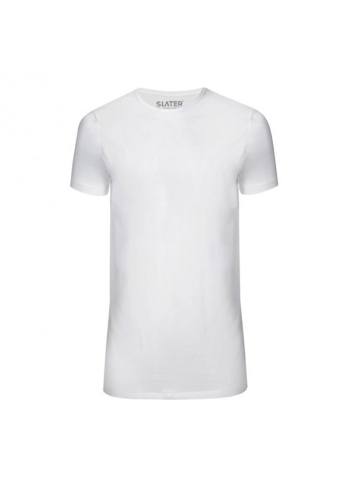 Slater T-Shirt Basic Fit O-neck white EXTRA LONG