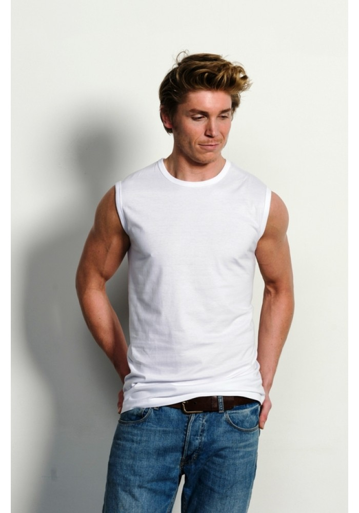 Slater T-Shirt Sleeveless ( mouwloos) white