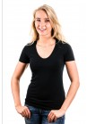 Garage T-Shirt Ladies V-Neck Black