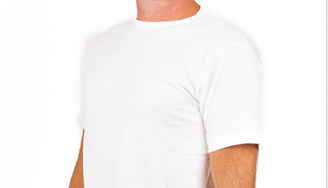 Alan Red T-Shirt V-Hals Oklahoma White